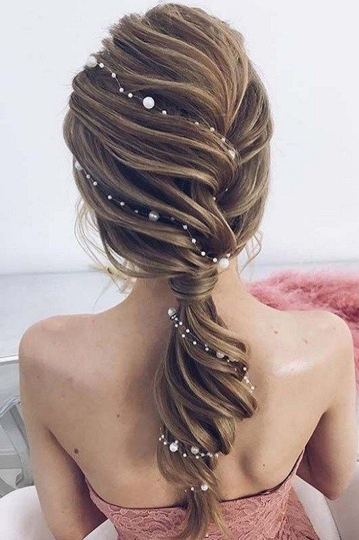 45 Best Wedding Hairstyles for Womens 2018 | Bridal hair headpiece .