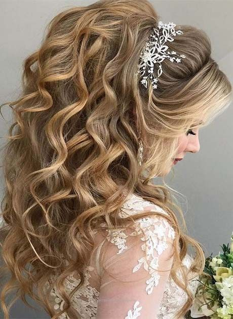 Lavish Wedding Hairstyle Ideas 2019 | Wedding hairstyles for long .