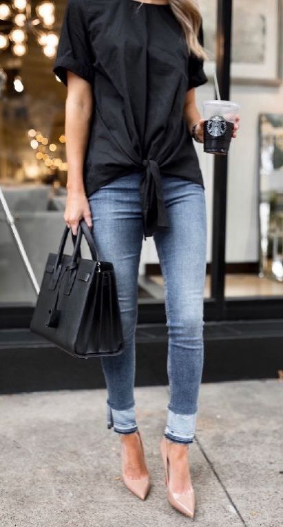 30+ Trendy Ways to Wear Jeans To The Office In 2018 | Stylish .
