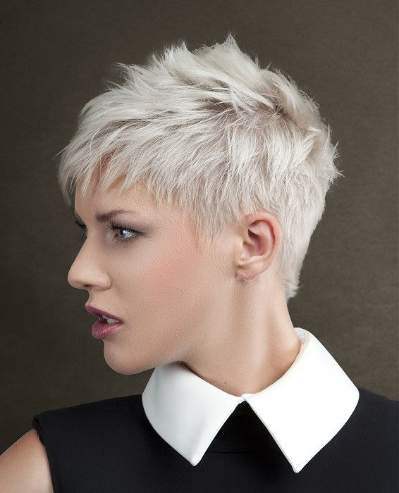 Short White Hairstyles | Hair styles, Short hair styles pixie .
