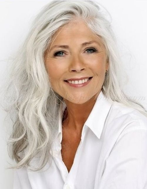 long grey hairstyles | long hairstyle for grey hair (With images .