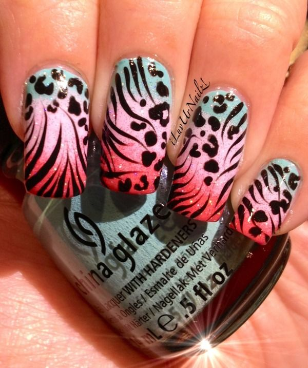 Wild Animal Print Gradient... | Animal print nails art, Animal .