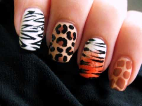 Learn How to Create Several Different Wild Animal Print Nail Art .