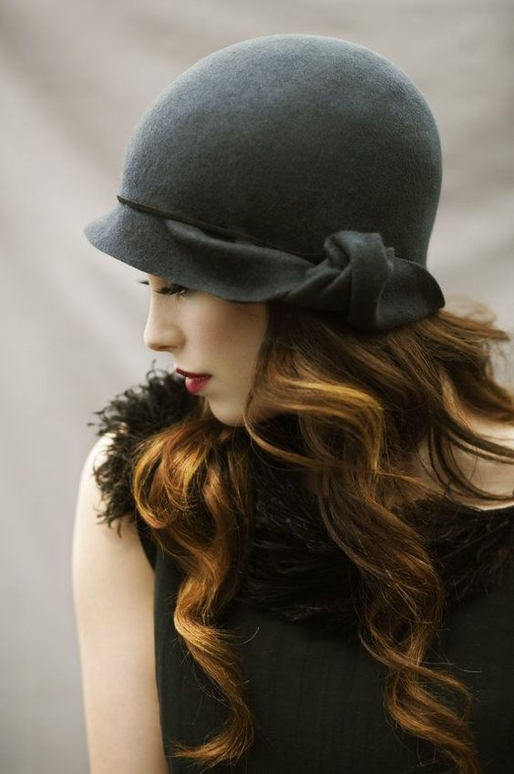 20 Winter Hair Looks with Hats You Must Adore | Cloche hat .