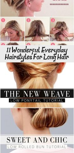 11 Wonderful Everyday Hairstyles For Long Hair | Long hair styles .