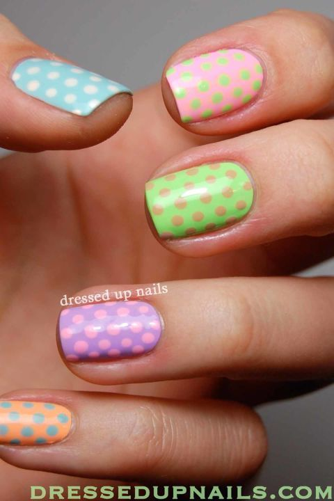 Give Yourself a Colorful Easter Mani This Year | Nail designs .