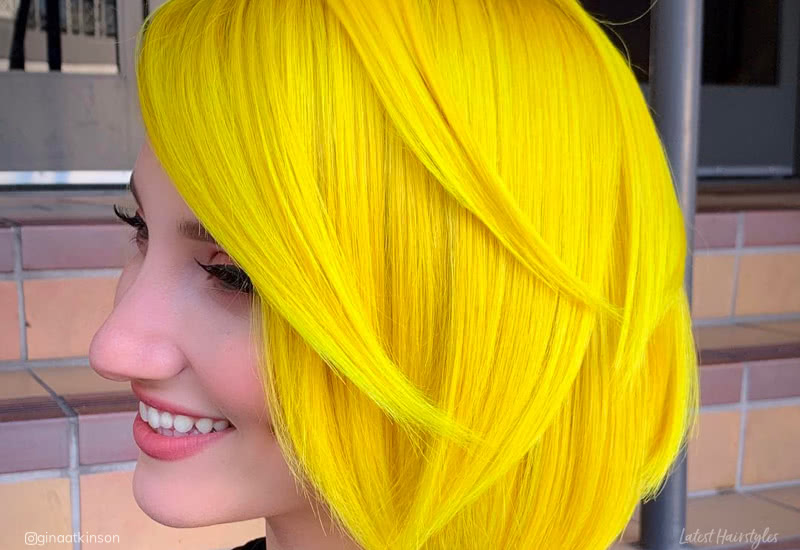 21 Surprisingly Trendy Yellow Hair Color Ideas in 20