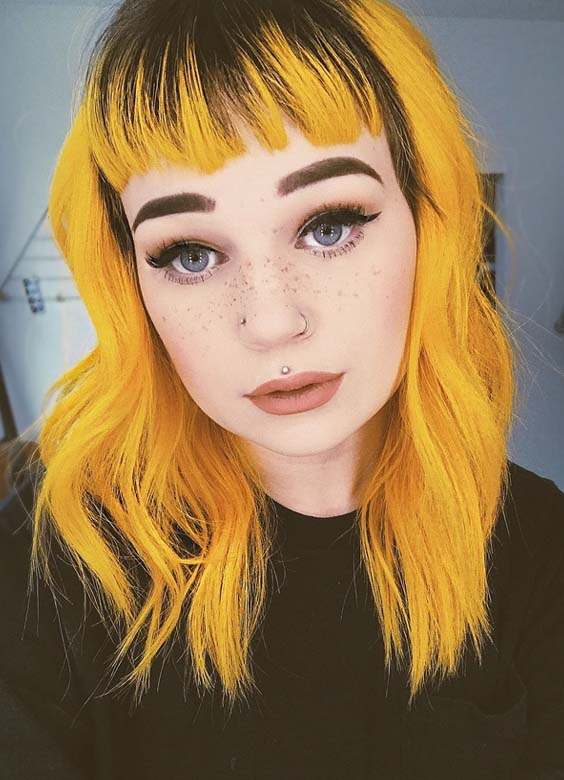 Stunning Yellow Hair Colors & Hairstyles with Bangs in 2018 | Stylez