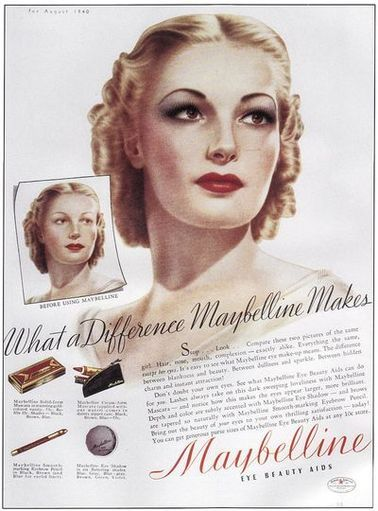 Authentic 1940s Makeup History and Tutorial | Vintage makeup ads .