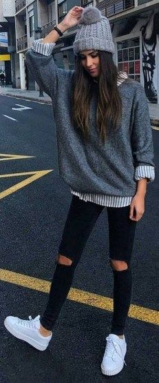 Amazing Winter White Skinny Jeans Outfits Ideas 06 | Cute fall .