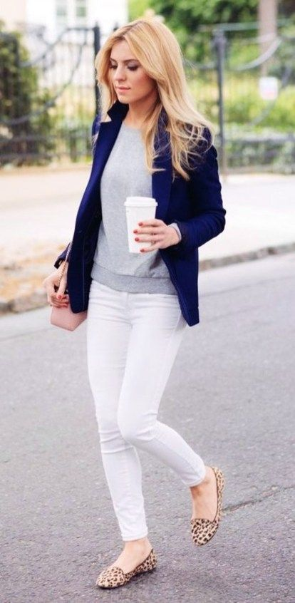 Amazing Winter White Skinny Jeans Outfits Ideas 10 | Summer .