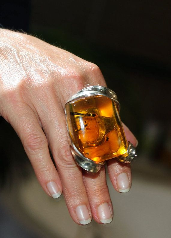 Spectacular massive mexican amber with fossil inclusions designed .