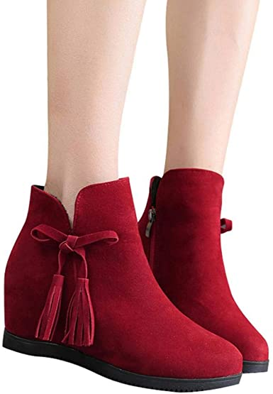 Amazon.com: Gyoume Winter Ankle Boots,Teen Girls Zipper Boots .