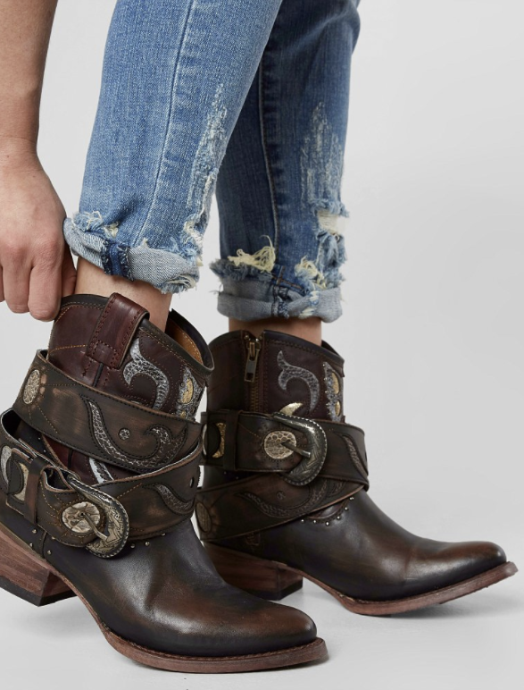 Embellished Cowboy Boots : Freebird by Steven Tash Ankle Boot .