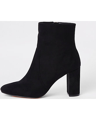 Remarkable Deals on River Island Womens Black chunky block heel .