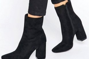Boohoo | Boohoo High Ankle Block Heeled Boot | Womens boots ankle .
