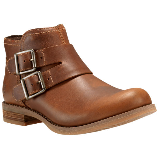 Women's Savin Hill Double-Buckle Leather Ankle Boots | Timberland .