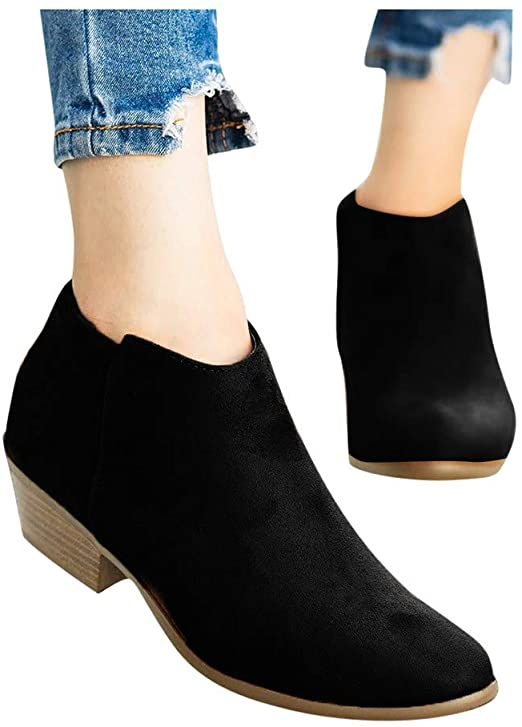 Amazon.com: Women's Ankle Boots Low Heel Combat Style Army Booties .
