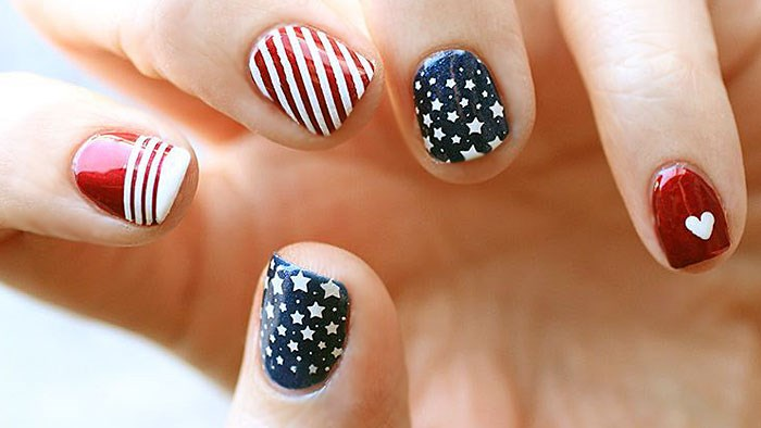 Red, white and awesome 4th of July nail art desig