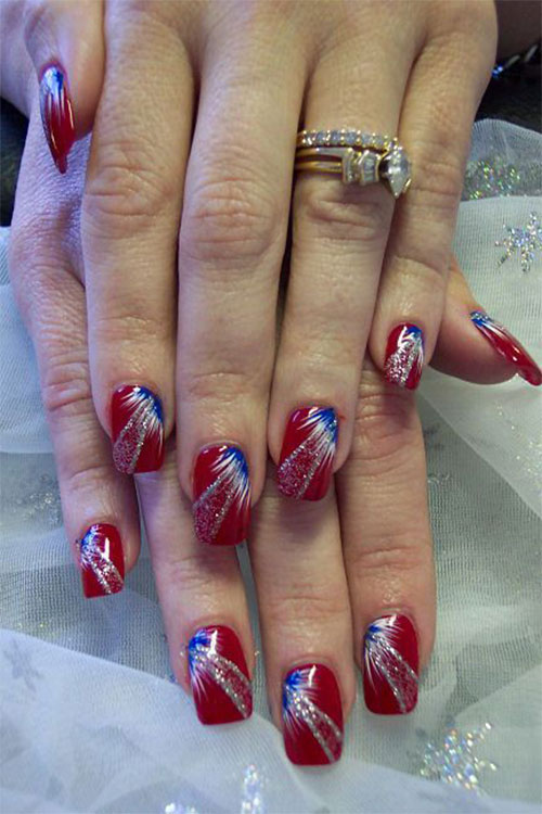 18 Awesome 4th of July Fireworks Nail Art Designs 2016 | Fourth of .