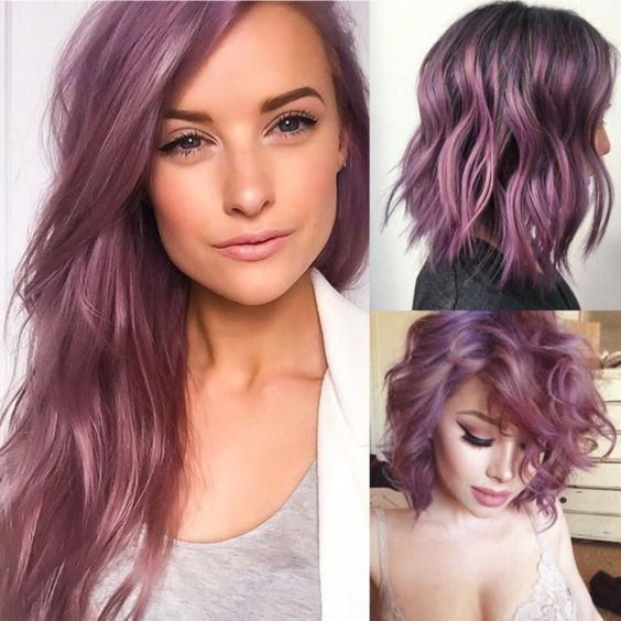 15 Awesome Trendy Mauve Hair Color 2018 For Great Appearance (With .