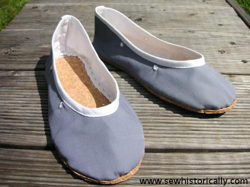 How To Make Edwardian/ 1920s Bathing Shoes With Cork Sole - Sew .