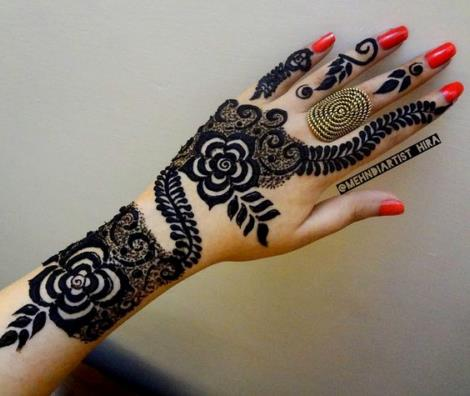 550 Henna Tattoo Pictures Gallery on Hand for Girl with Cute Desi