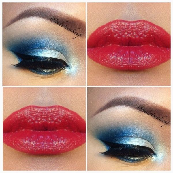 Wave the Flag: Red White and Blue Makeup for 4th July ... | 4th of .