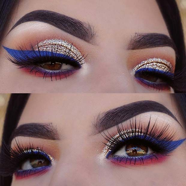 Beautiful Makeup for Fourth of July | Summer makeup looks, Summer .