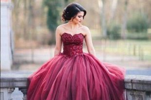 Astounding 76 Beautiful Maroon Quinceanera Dresses https .