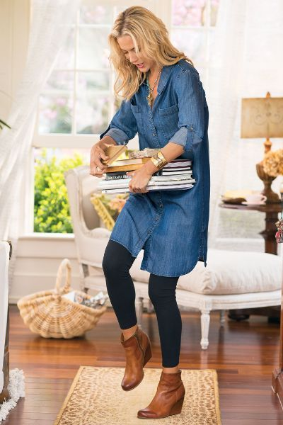 Beauty Shirtdresses Style Inspirations | How to wear leggings .
