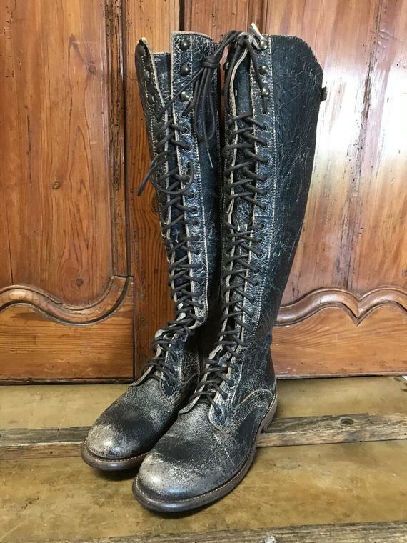 Bed Stu Glastonbury Lace Up Tall Knee High Campus Womens Boots | Et