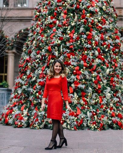 Holiday Outfit Ideas - Best Christmas Dresses   Red dresses classy .