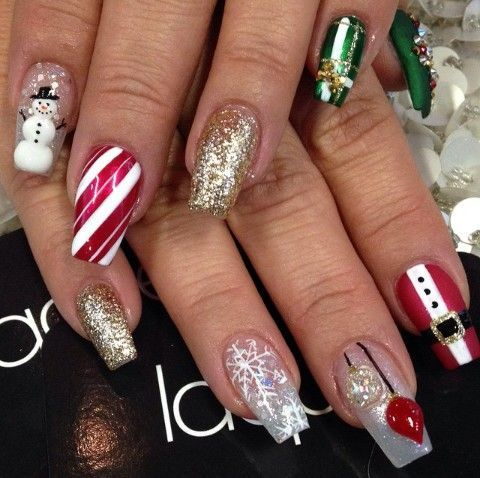 Best Christmas Nails Acrylic Ideas