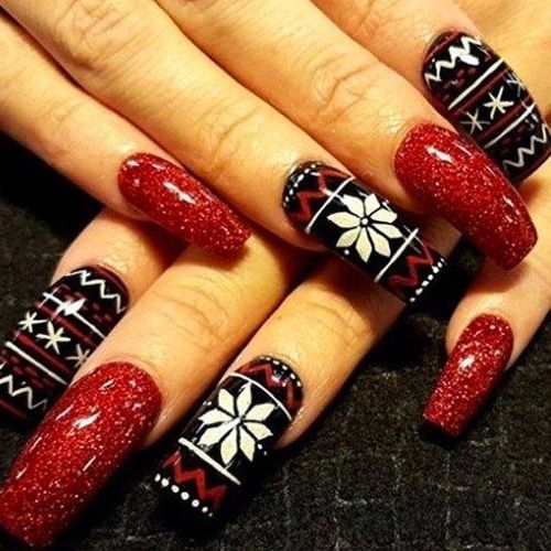 Best Acrylic Christmas Nails - 71 Acrylic Christmas Nail Designs .