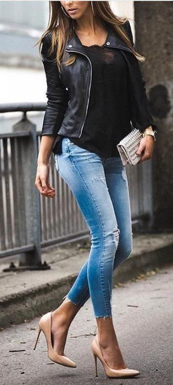 54 #Best #Ideas #Style #Girl #Fashion #Outfits #Leather #Jackets .