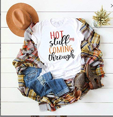 Amazon.com: funny thanksgiving t-shirt cute women's fall tee .