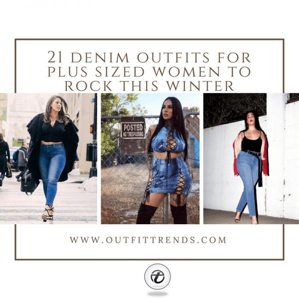 21 Best Winter Jeans Outfits for Plus-Sized Women to Stay Cool and .