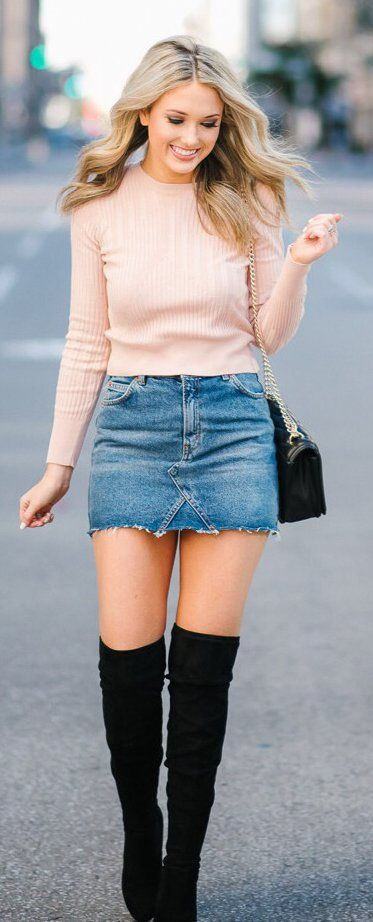 40+ Cute Outfits For This Winter 2017   Denim dress style, Winter .