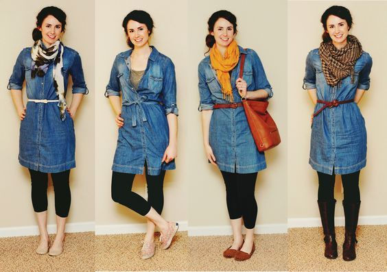 16 Best Denim Outfit For Winter Season That Look Cool | Chambray .