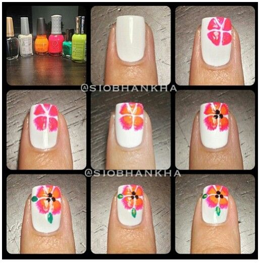 Pin by Mary Vides on Nail Art ideas | Flower nails, Flower nail .