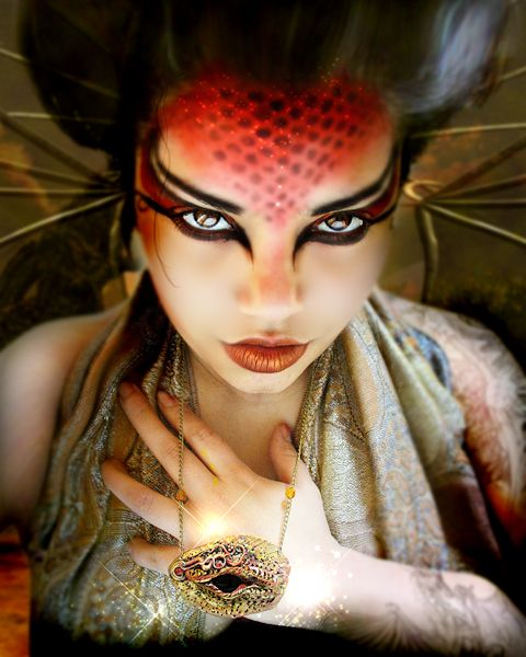 Halloween Makeup : Draconic Fire Dragon Queen by PixiesLot on .