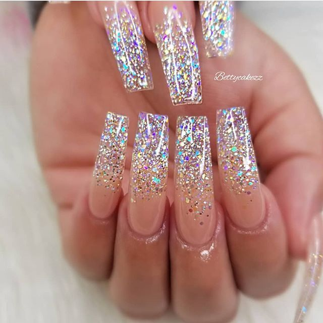 49 Best Glitter Nail Art Ideas For Glam Looks | Nail designs .