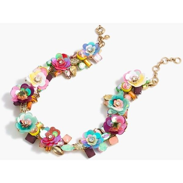 J.Crew Blooming Sequin Paillette Necklace | Womens necklaces .