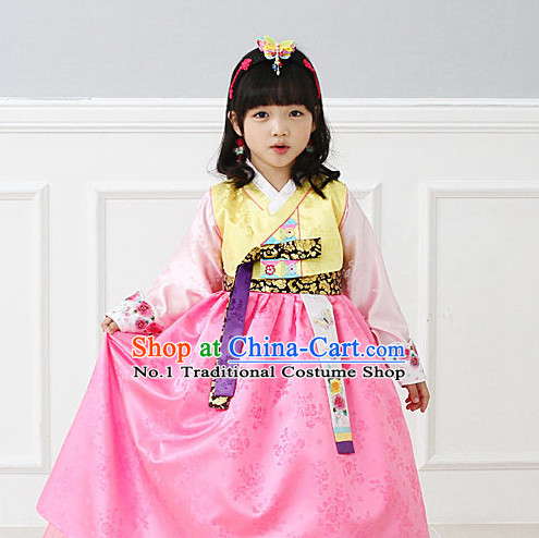 Top Korean National Costumes Kids Fashion Traditional Korean Cloth
