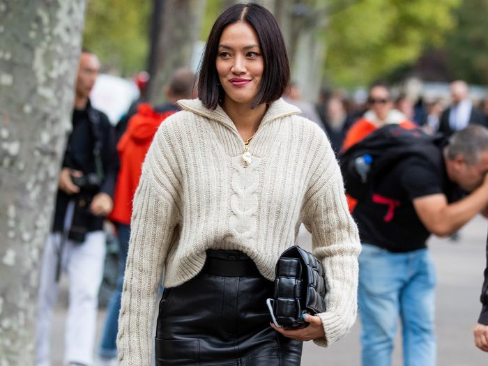 4 Chic Ways to Wear Leather Skirts | Who What We