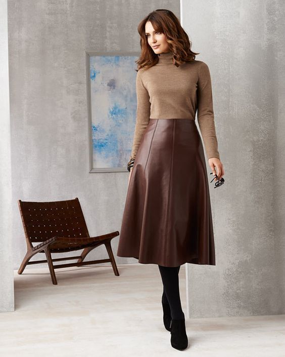 15 Best Leather Skirts Ideas Looks Amazing | Long leather skirt .