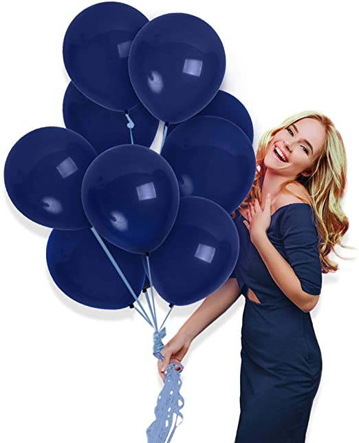 Amazon.com: Treasures Gifted Matte Navy Blue Balloons 72 Pack for .
