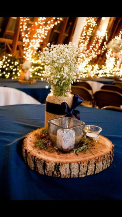 Navy Blue Party Decorations 12 | Blue wedding centerpieces .