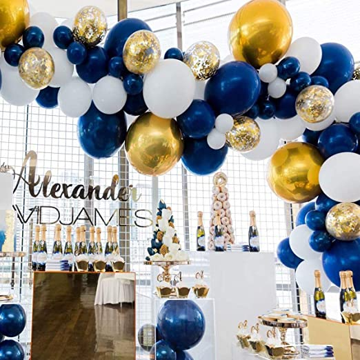 Amazon.com: 80 pcs Navy Party Balloons,12 inch Metallic Sea Blue .